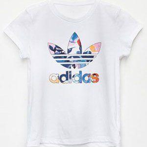 ADIDAS Floral Watercolor Trefoil T-Shirt